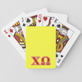 Chi Omega Red Letters Playing Cards