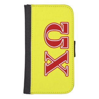 Chi Omega Red Letters Samsung S4 Wallet Case