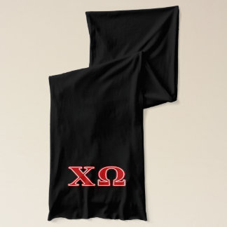 Chi Omega Red Letters Scarf