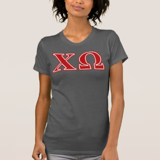 Chi Omega Red Letters T-Shirt