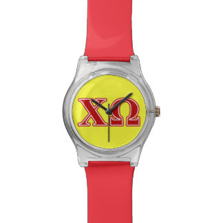 Chi Omega Red Letters Watch