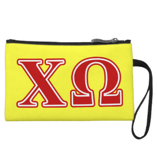 Chi Omega Red Letters Wristlet