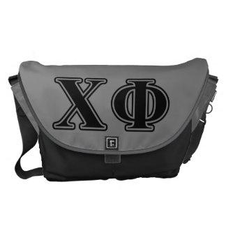 Chi Phi Black Letters Commuter Bag