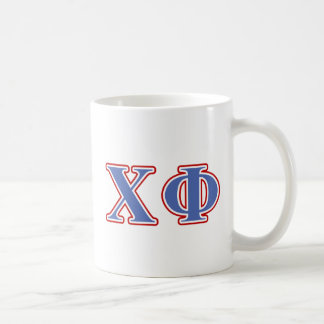 Chi Phi Blue and Red Letters Coffee Mug