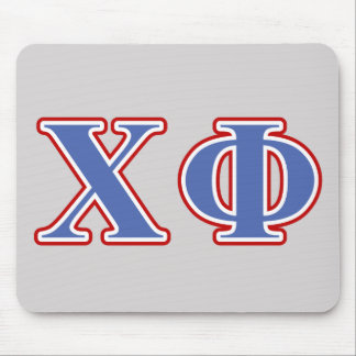 Chi Phi Blue and Red Letters Mouse Mat