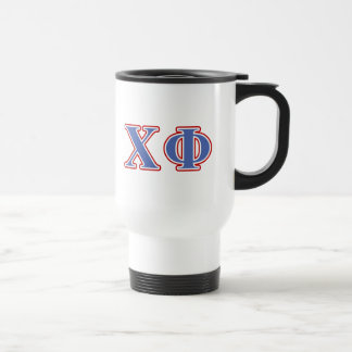 Chi Phi Blue and Red Letters Travel Mug