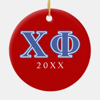 Chi Phi Blue Letters Christmas Ornament