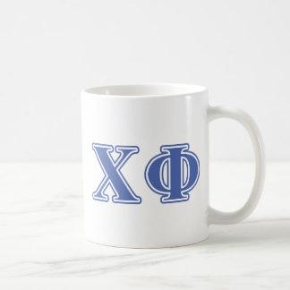 Chi Phi Blue Letters Coffee Mug