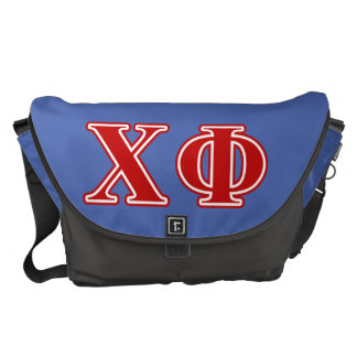 Chi Phi Red Letters Courier Bag