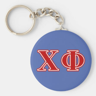 Chi Phi Red Letters Key Ring