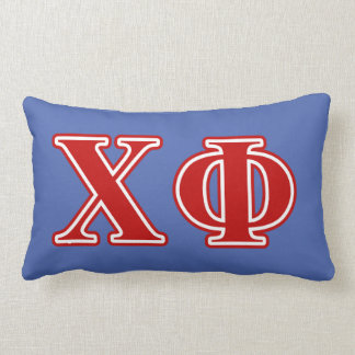 Chi Phi Red Letters Lumbar Cushion
