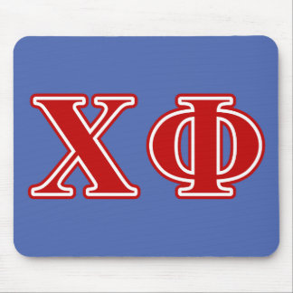 Chi Phi Red Letters Mouse Pad