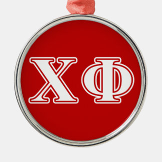 Chi Phi White Letters Christmas Ornament