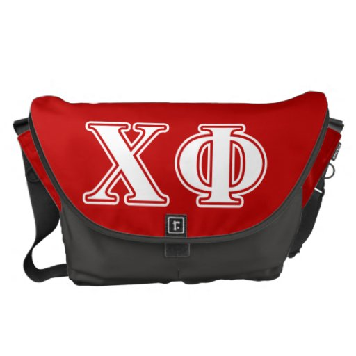 Chi Phi White Letters Courier Bag