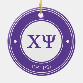 Chi Psi | Badge Christmas Ornament