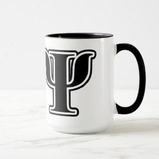 Chi Psi Black Letters Mug