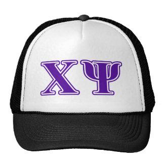 Chi Psi Purple Letters Cap