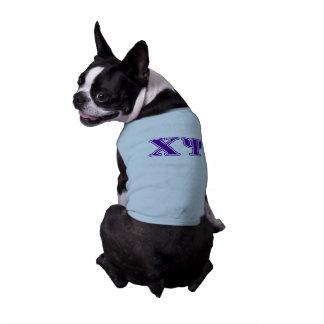 Chi Psi Purple Letters Shirt
