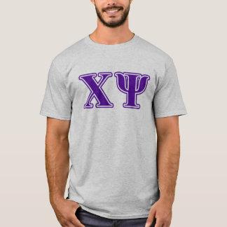 Chi Psi Purple Letters T-Shirt
