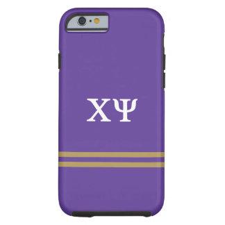 Chi Psi | Sport Stripe Tough iPhone 6 Case