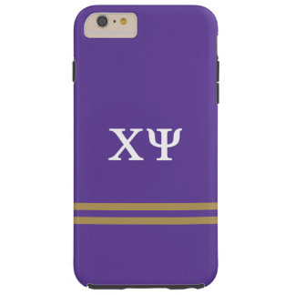 Chi Psi | Sport Stripe Tough iPhone 6 Plus Case