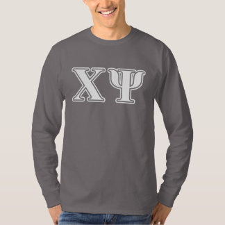 Chi Psi White Letters T-Shirt