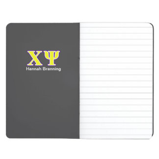 Chi Psi Yellow and Purple Letters Journal