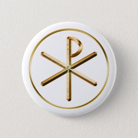 Chi-Rho glow 6 Cm Round Badge