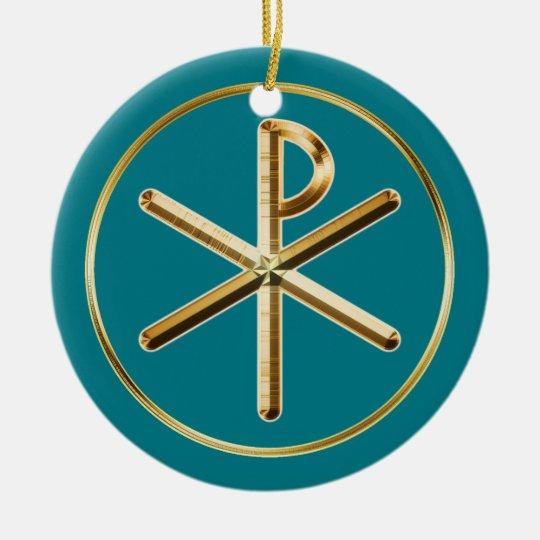 Chi-Rho glow Christmas Ornament