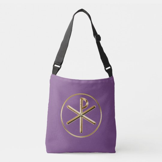 Chi-rho symbol crossbody bag