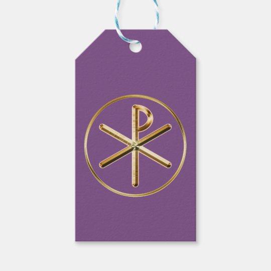 Chi-rho symbol gift tags