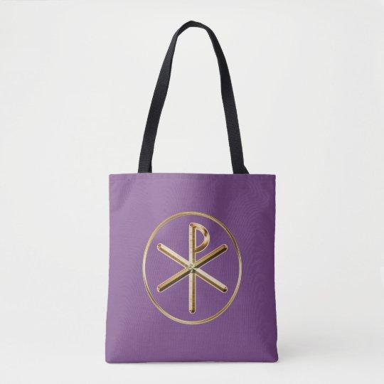 Chi-rho symbol tote bag