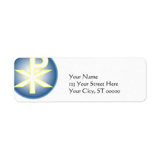 Chi Ro Christian Return Address Label
