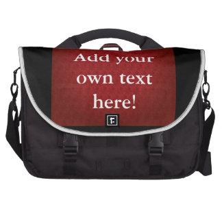 Chi Ro pattern in Red Laptop Messenger Bag