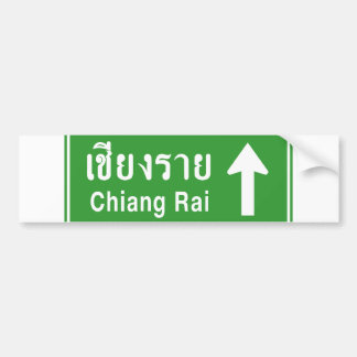 Chiang Rai Ahead ⚠ Thai Highway Traffic Sign ⚠ Bumper Sticker