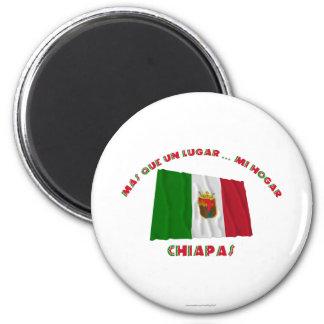 Chiapas - Más Que un Lugar ... Mi Hogar 6 Cm Round Magnet