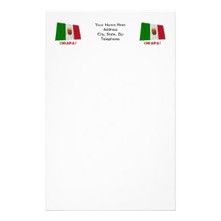 Chiapas Waving Unofficial Flag Stationery Design
