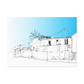 Chiappini Street, Cape Town. Blue Sky Canvas Print