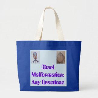 Chiari Awareness Large Tote Bag