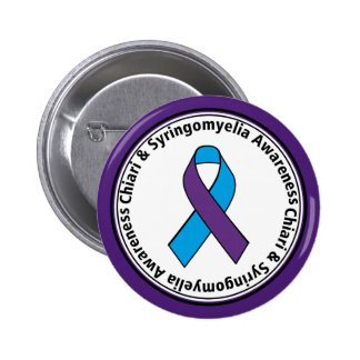 Chiari & Syringomyelia Awareness Ribbon Button