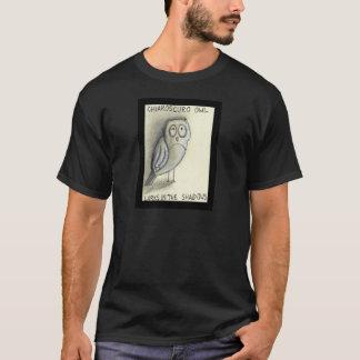 Chiaroscuro Owl Lurks in the Shadows T-Shirt