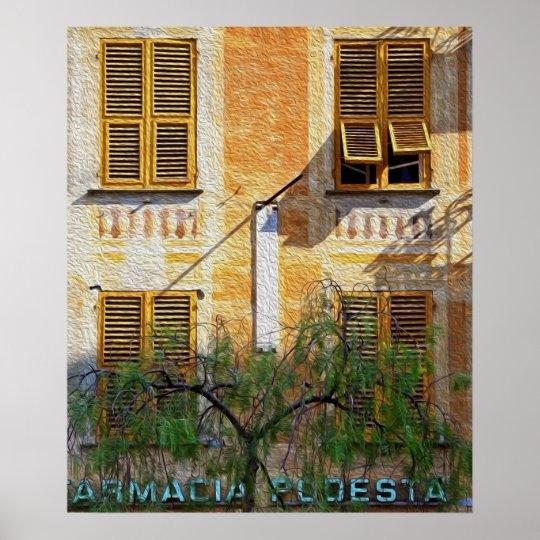 Chiavari Windows 'Oil Painting' Poster