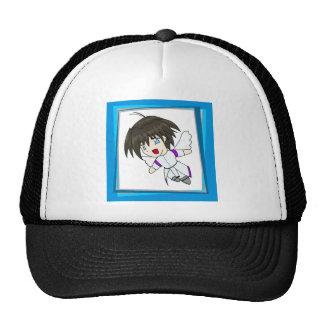 Chibi Angel blue Mesh Hat