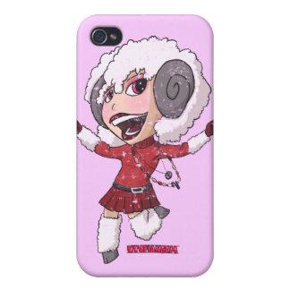 Chibi Aries (distressed) iPhone 4/4S Cases