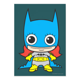 Chibi Batgirl 13 Cm X 18 Cm Invitation Card
