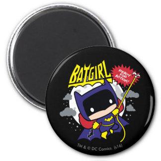Chibi Batgirl Ready For Action 6 Cm Round Magnet