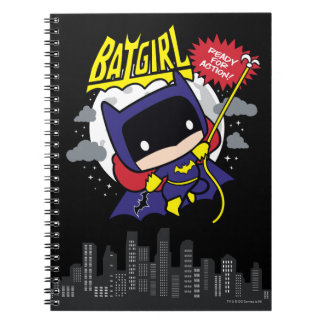 Chibi Batgirl Ready For Action Notebook