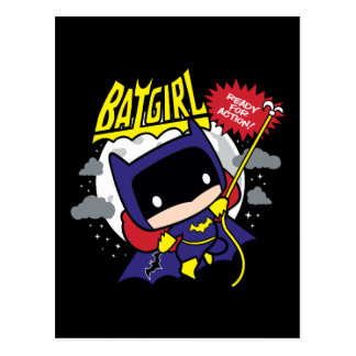 Chibi Batgirl Ready For Action Postcard