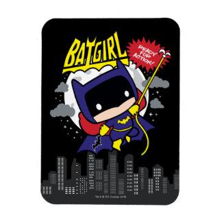 Chibi Batgirl Ready For Action Rectangular Photo Magnet