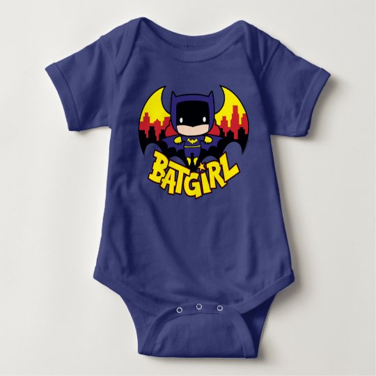 Chibi Batgirl With Gotham Skyline & Logo Baby